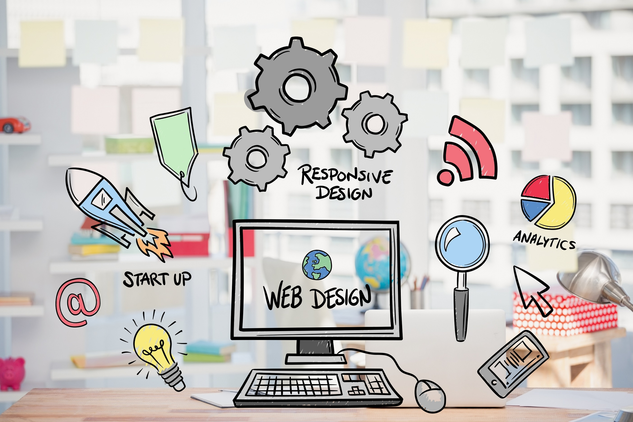 web-design-concept-with-drawings